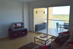 Gorgeous apartment with 2 bedrooms, parking garage, communal swimming pool and stunning views for sale in Santa Margarita, Roses, Costa Brava, Spain.